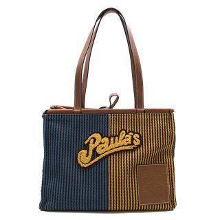 Loewe x Paula's Ibiza Stripes Cushion Tote Bag