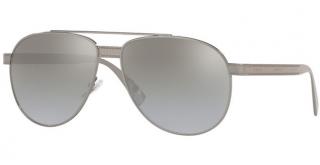 Versace Mens 2209 1001/6V Aviator Sunglasses