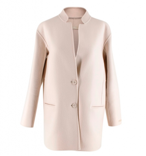 S'Max Mara Beige Virgin Wool Double Face Coat