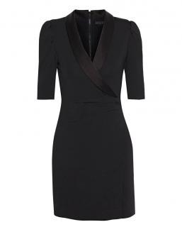 Alice + Olivia Stretch Jersey Black Mini Dress