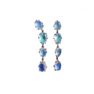 Larkspur & Hawk Blue Crystal Teardrop Dangle Earrings