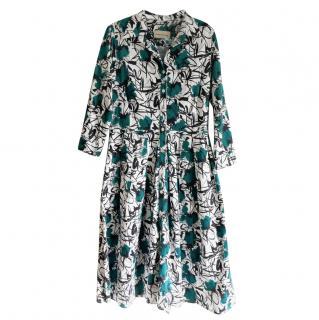 Samantha Sung Floral Print Audrey Dress