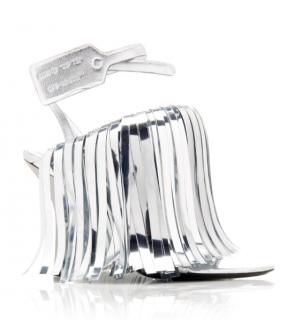 Off-White c/o Virgil Abloh Women's Metallic Leather Fringe Sandals