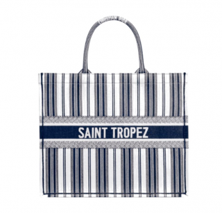 Dior Blue Dioriviera Saint Tropez Embroidered Book Tote