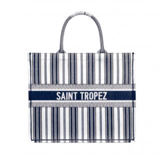 Dior Blue Dioriviera Saint Tropez Embroidered Book Tote