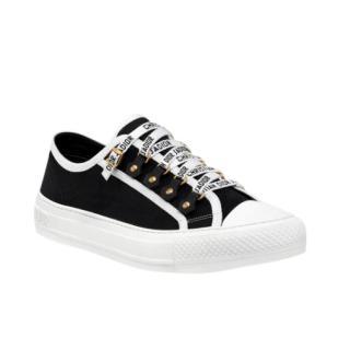 Dior Black Canvas Walk'N'Dior Sneakers
