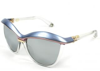 Dior Blue Crystal Demoiselle Cat-Eye Sunglasses