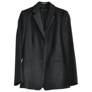 Calvin Klein Collection Single Breasted Charcoal Wool Jacket