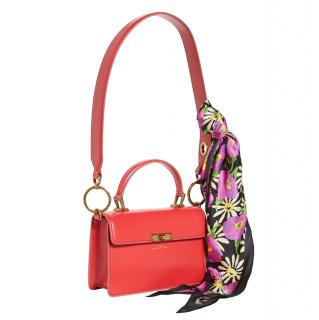 Marc Jacobs Red Leather Scarf Tie Downtown Bag