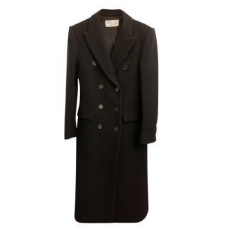 Chloe Black Mohair Blend Double Breasted Longline Coat