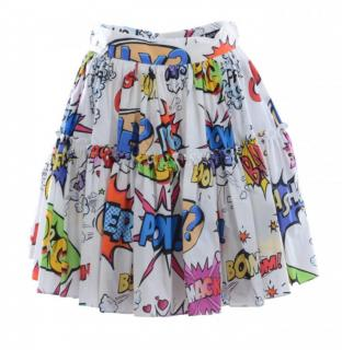 Dolce & Gabbana Comic Book Print Tiered Skirt