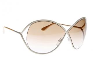 Tom Ford Cream Lilliana Sunglasses