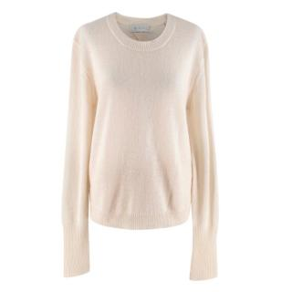 A.L.C. Cream Mohair Wool Blend Jumper w/ Back Cutout Detail