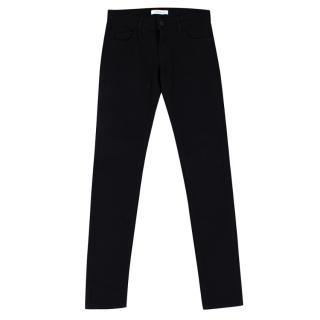Pierre Balmain Black Cotton Denim Slim Fit Jeans