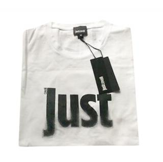 Just Cavalli White Logo Print T-Shirt