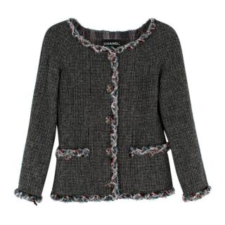 Chanel Paris/Edinburgh Grey Wool Tweed Runway Jacket