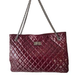 Chanel Burgundy Patent Reissue Shopper