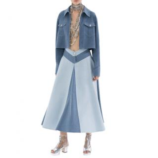 Chanel Denim Blue Cropped Runway Jacket