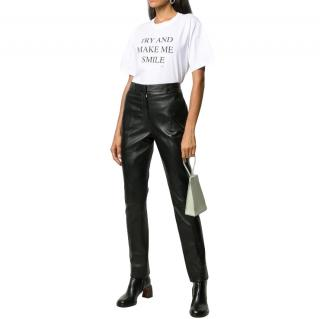 Victoria Victoria Beckham Try And Make Me Smile White T-Shirt