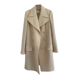 Chloe Beige Wool Double Breasted Coat