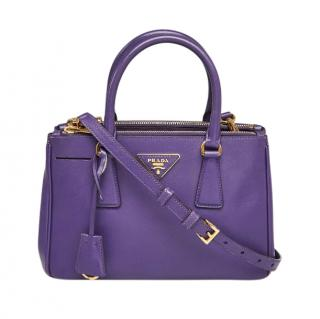 Prada Purple Saffiano Lux Leather Mini Tote Bag