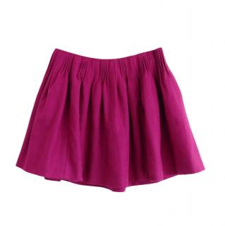 Miu Miu Pink Wool Blend Harlequin Mini Skirt