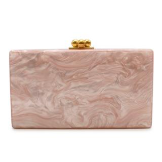 Edie Parker Rose Quartz Jean Clutch