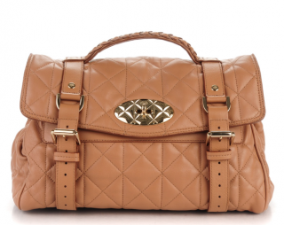 Mulberry Deer Brown Nappa Quilted Medium Alexa Bag
