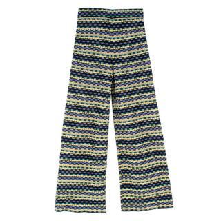 M Missoni Cotton-Blend Knit Wide-Leg Trousers