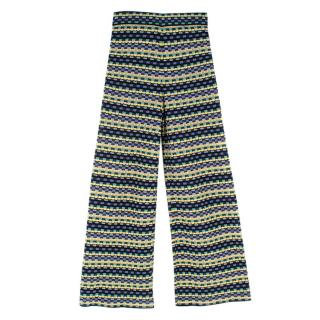 M Missoni Cotton-Blend Knit Wide-Leg Trousers