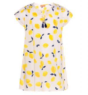 Sunuva Girls 12Y Sicilian Lemon Kaftan Dress