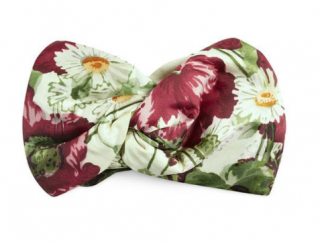 GUCCI Silk Headband With Floral Print