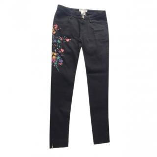 Chloe Black Paint Splash Jeans