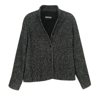 Jil Sander Grey Short Cashmere Jacket