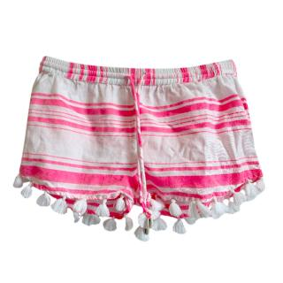 Sunuva Neon Striped Tassel Shorts