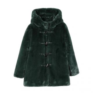 Stella McCartney Faux Fur Hooded Coat