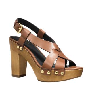 Coach Leather Wooden Sandals