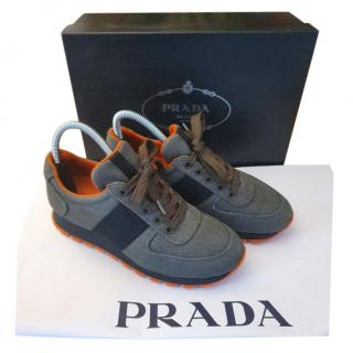 Prada Nylon Neon Trimmed Women's Sneakers