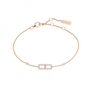 Messika Move Uno 18-karat rose gold diamond bracelet