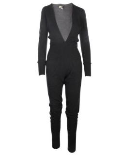 Hermes Charcoal Cashmere & Wool Jumpsuit