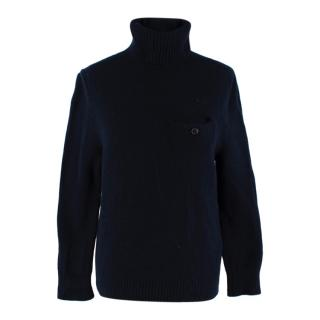 Acne Studios Navy Wool Turtleneck Sweater