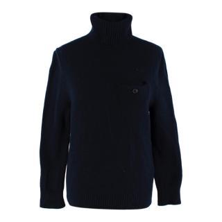 Acne Studios Navy Wool Turtleneck Sweater