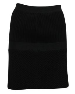 Chanel Black Wool Blend Tulip Skirt