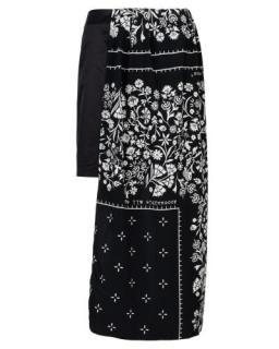 Maison Margiela Black Half Paisley Print Skirt
