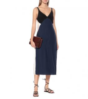 Rag & Bone Blue Black & White Gladys Silk Slip Dress