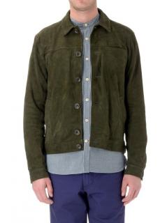 Oliver Spencer Green Suede Buffalo Jacket