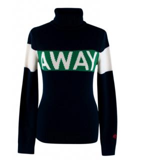 Perfect Moment Navy 'Away' Merino Wool Roll Neck Sweater