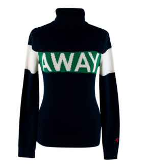 Perfect Moment Navy 'Away' Merino Wool Roll Neck Sweater