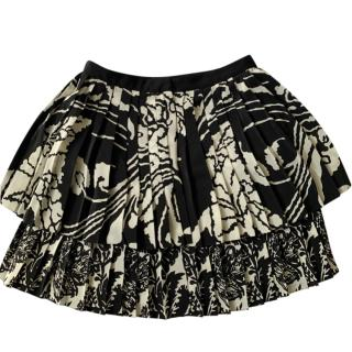 Gucci Bi-Colour Printed Pleated Mini Skirt