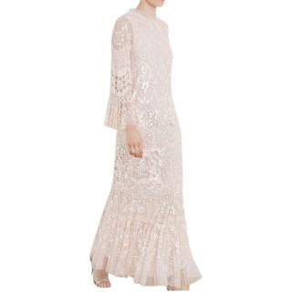 Needle & Thread Pearl Rose/Pink Sequin Tulle Snowdrop Gown
